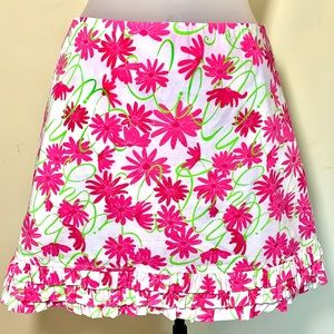 Size 6 Lilly Pulitzer pink green and white skirt